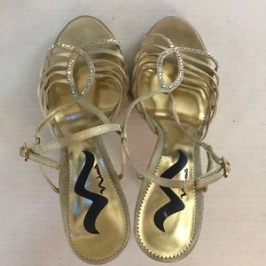Nina Shoes - Nina Strappy Gold Heels